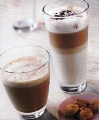 ein Cafe Latte und ein Cappuccino