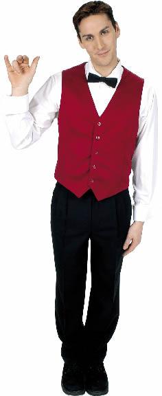 ein junger Herr demonstriert die Körpersprache der Gastronomie