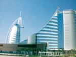 imposante Bauwerke aus Dubai aus der Froschperspektive