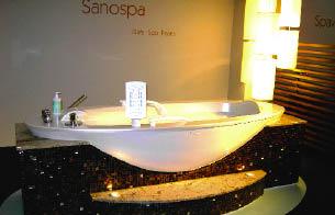 Eine Badewanne aus dem Hause Klafs