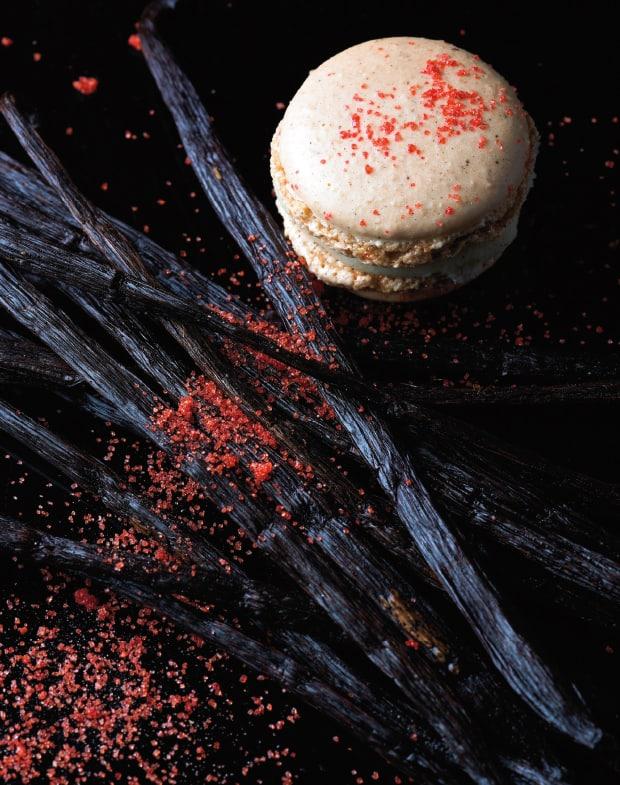 erdbeer vanille macaron
