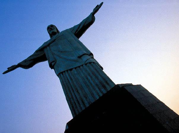 Cristo Redentor, monumentale Christusstatue im Süden von Rio de Janeiro auf dem Berg Corcovado