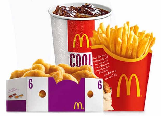 McDonalds Nuggets Pommes Cola