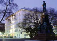 Le Méridien Hotel im Morgengrauen