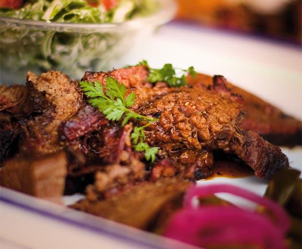 Sliced Texas Style Beef Brisket