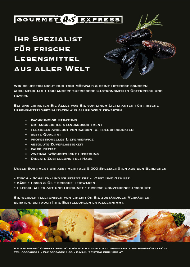Website Screenshot von Gourmet express
