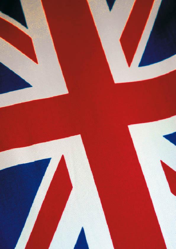die Farben der flagge großbritanniens