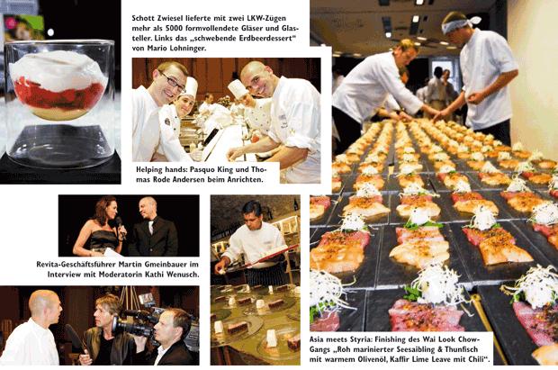 Collage des größten Gourmetfestival Österreichs