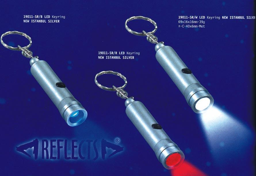 bunte taschenlampen als werbeartikel namens reflects aus dem hause presento