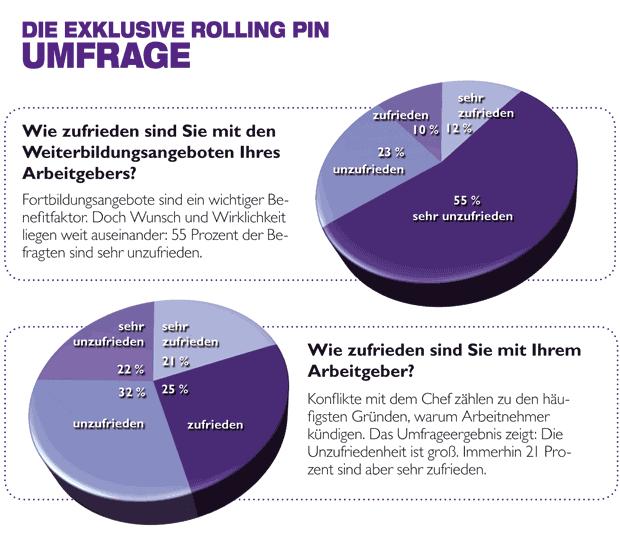 Rolling Pin Umfrage zum Weiterbildungsangebot des Arbeitgebers
