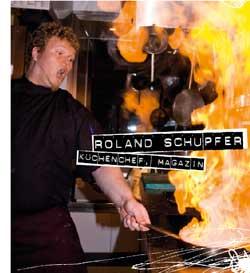 Roland Schupfer beim flambieren