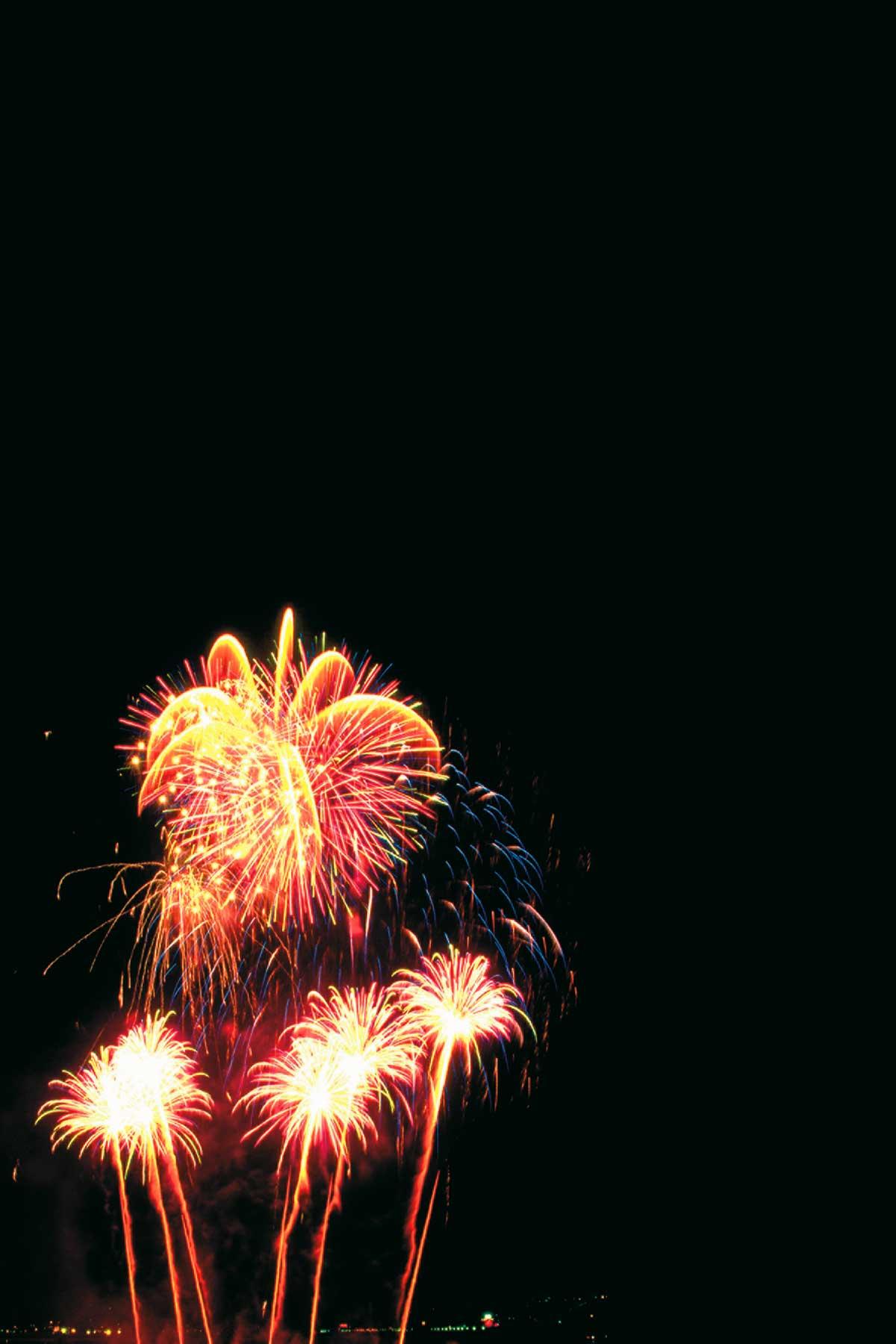 Ein Feuerwerk der superlative bei nacht