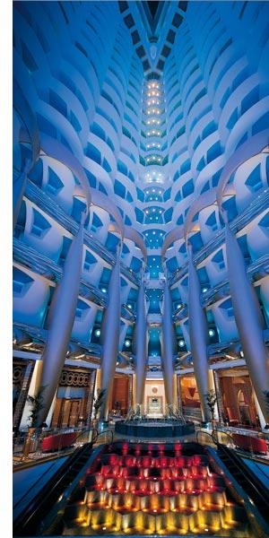 Burj Al Arab in Dubai von Innen