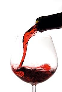 ein Gläschen Rotwein