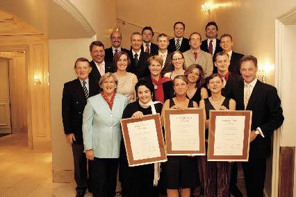 Mitarbeiter mit dem Egon-Steigenberger-Preis