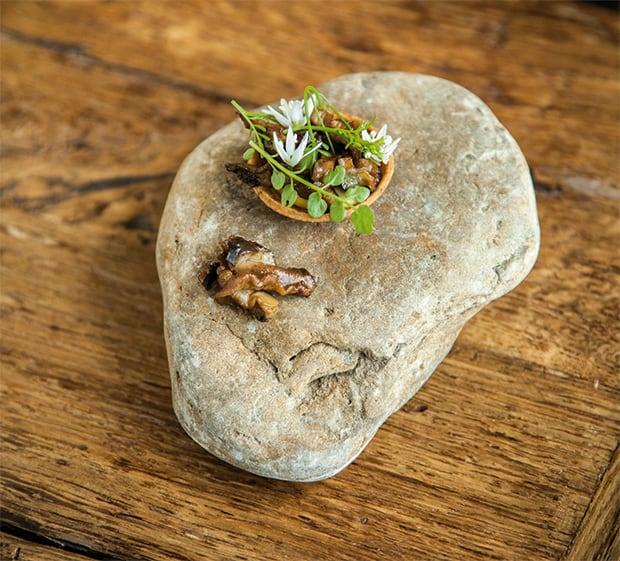 Schnecke aus Comines mit Knoblauch