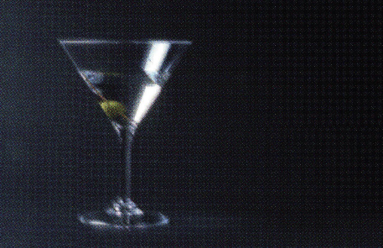 Martini mit einer Olive