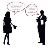 eine Illustration in schwarz weiß einer Frau und eines Kellners