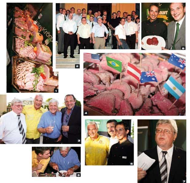 Collage zur 2. Rindfleischverkostung im Kaiserpavillon
