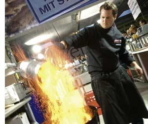 Roland Huber setzt die halbe Küche in Brand