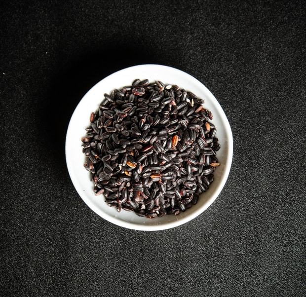 schwarzen Reis