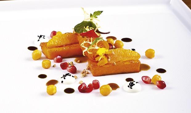 Kürbis & Orange - Butternut-Kürbis, Kichererbsen, Schafsjoghurt, kandierter Buchweizen