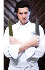 ein Kochprofi und seine Messer