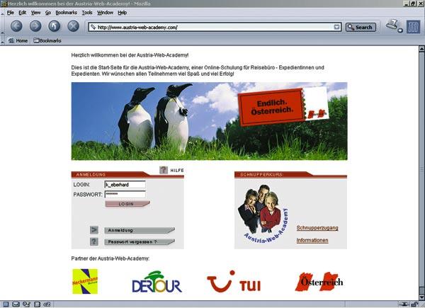 ein Screenshot der Austria Web Academy