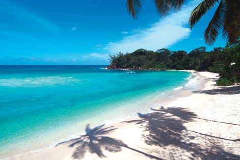traumhafter Strand auf den Seychellen