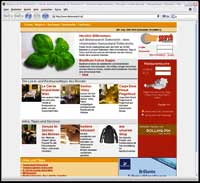 ein Screenshot einer Website für Lokalreservierung Online