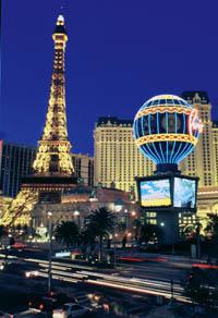 paris und bellagio hotel in Las Vegas