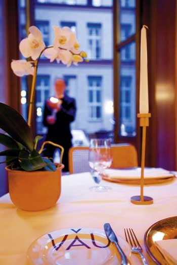 ein Tisch im VAU Restaurant