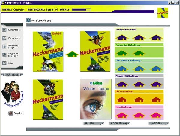 ein screenshot der neckermann website