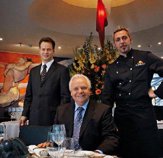 Küchenchef Roland Trettl und Gastgeber Manuel Lechner