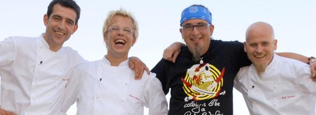 TV-Köche Ralf Zacherl, Martin Baudrexel, Mario Kotaska und Stefan Marquard