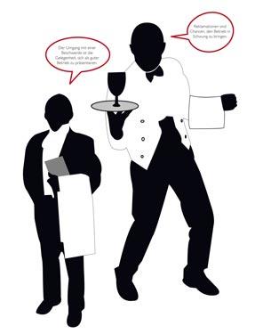 Illustrationen von Kellnern