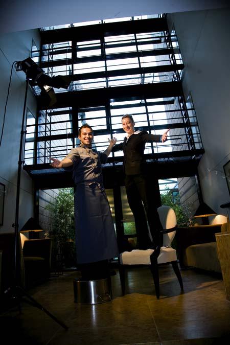 der Koch und die Managerin möchten uns mit offenen Armen willkommen heißen