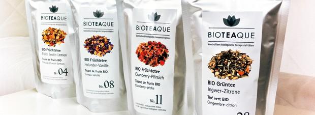 eine Auswahl an Bio Tee Sorten