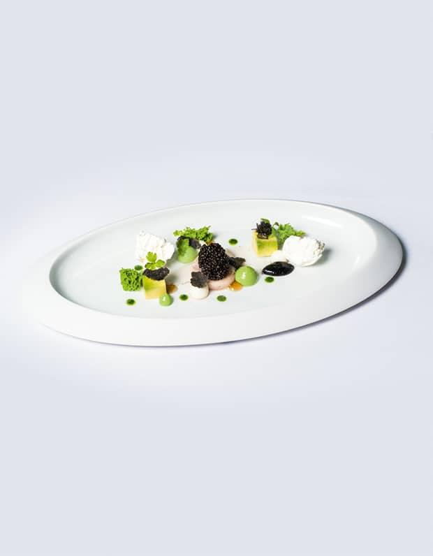 Kaviar, Ochsenmark, Avocado