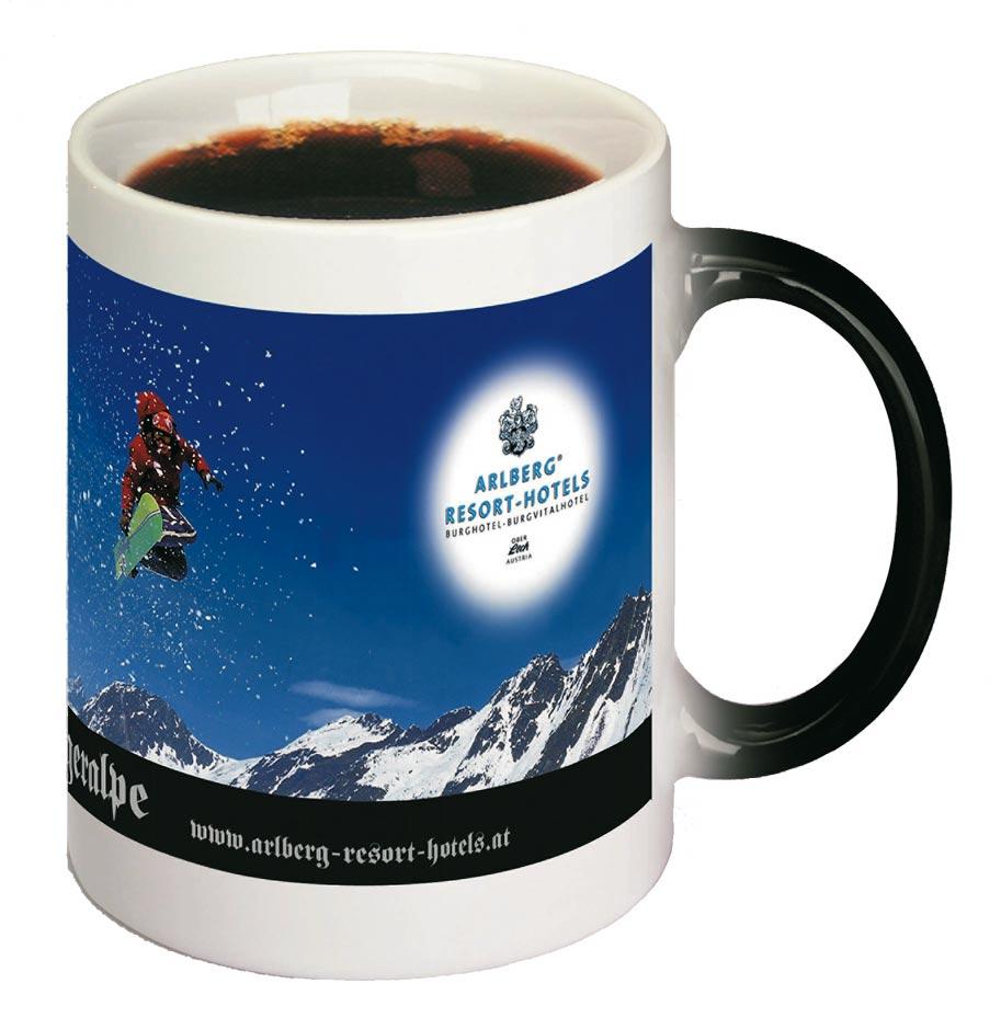 presento werbung artikel tasse kaffee häferl mug heißzustand
