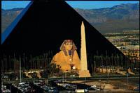 Glass Pyramid Hotel in Las Vegas