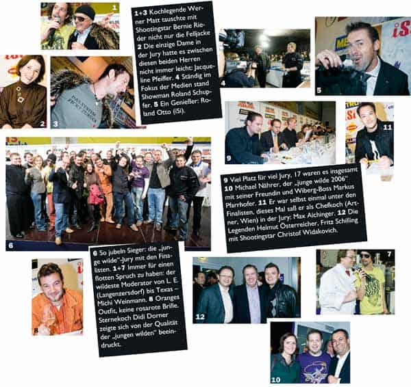 eine Fotocollage und Zusammenfassung der Highlights der jungen Wilden 2008