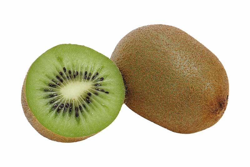 aufgeschnittene reife Kiwi