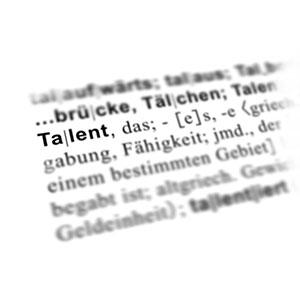 die Definition eines Talents aus dem Woerterbuchs