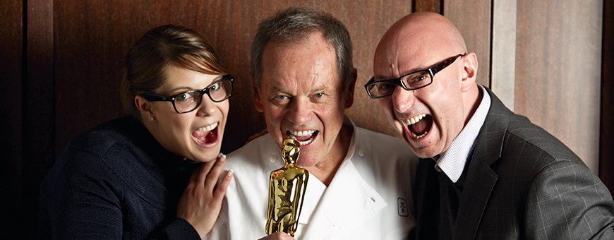 Wolfgang Puck mit ROLLING PIN CEO Jürgen Pichler und COO Silvana Zettinig