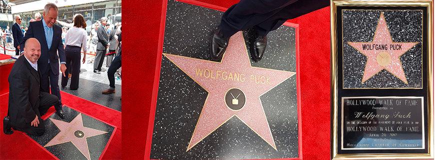 Ein Stern am Walk of Fame für Wolfgang Puck