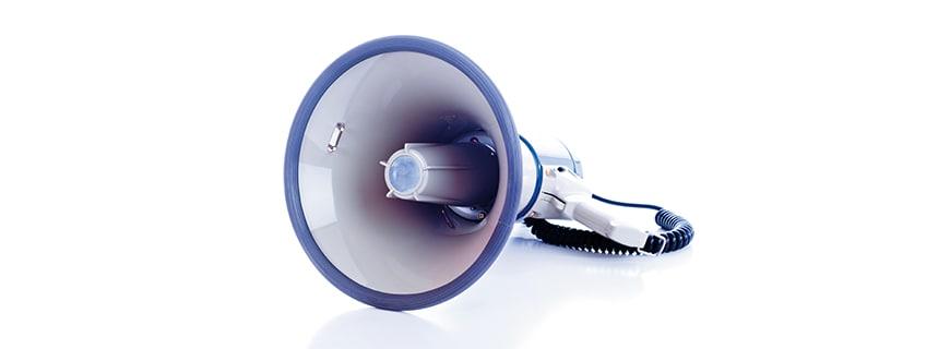 ein Megaphon
