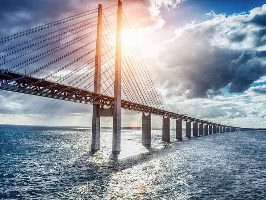 Die Brücke Öresundsbron zwischen Schweden und Dänemark