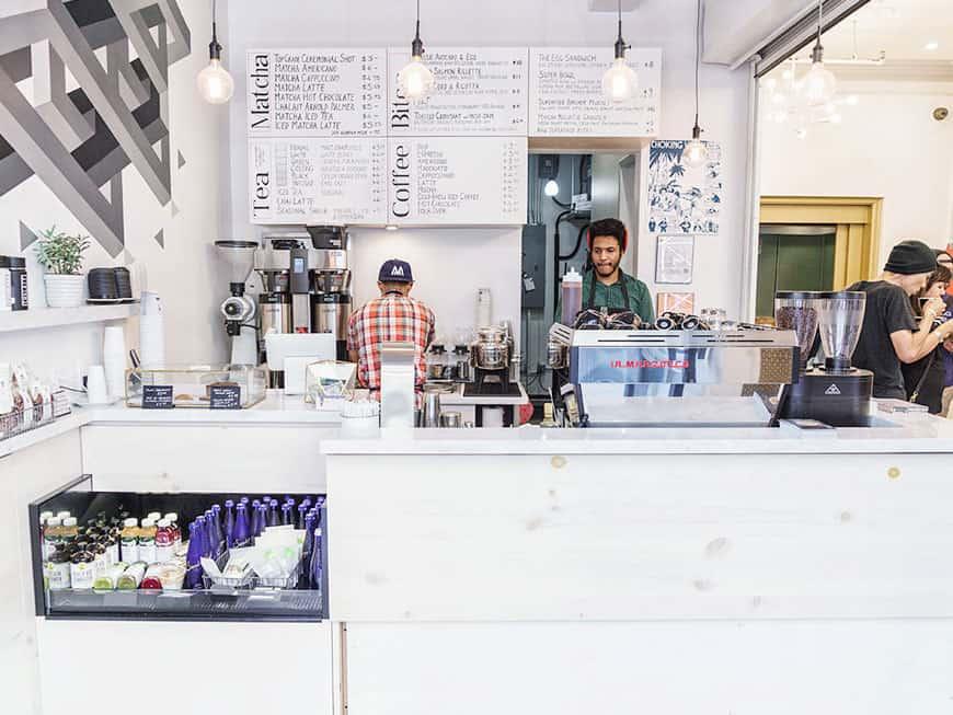 Die Coffee-Tea-Bar Chalait in New York