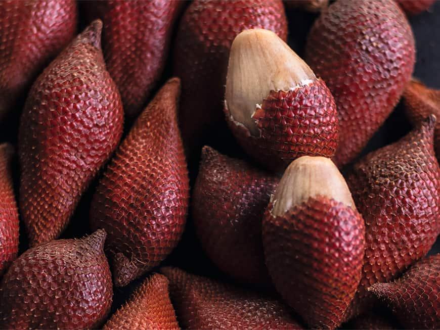 Die Salak überzeugt kulinarisch mit einem aromatischen Mix aus Erdbeere und Ananas.